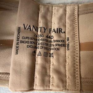 Vanity Fair Intimates & Sleepwear - Vanity fair strapless 44 D bra nude EUC underwire